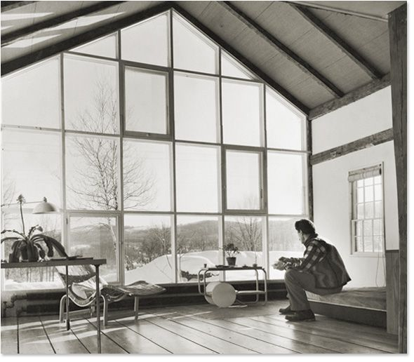 Like many artists of his time, Gorky's move from the hustle and bustle of NYC to the calm, scenic Connecticut countryside provided much inspiration for his following works. The vast terrain outside his living room reminded Gorky of his homeland halfway across the world, his little village outside of Van. (Photo: Ben Schnall)