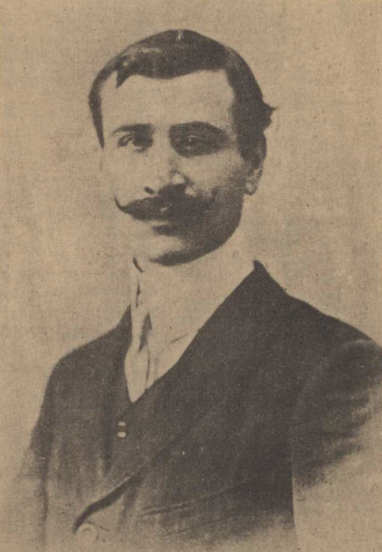 A portrait of Daniel Varoujan, which was published in 1919 in Constantinople's Arkadz newspaper. (Photo: Public domain)