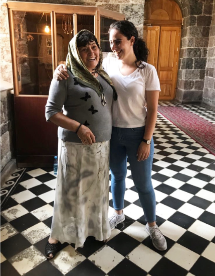 For Kekejian, research can take place in a lab at the University of Utah or in a cathedral in rural Armenia. For the study of Harsneren thus far, interviews have been conducted in homes, churches, and other community spaces. (Photo courtesy of Carla Kekejian)