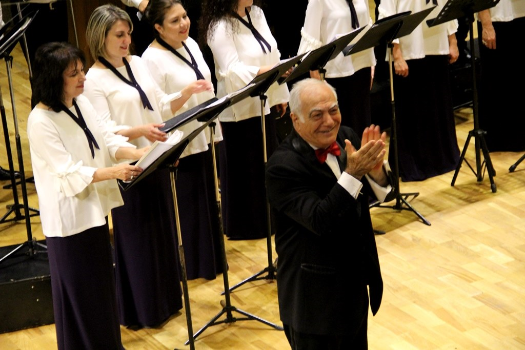The Yerevan State Chamber Choir (YSCC)  is headed by the great Harutyun Topikyan. (Photo courtesy of Eileen Herosian)