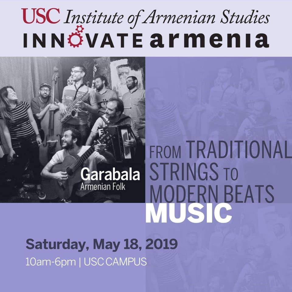 A poster for the Innovate Armenia performance (LA, 2019)