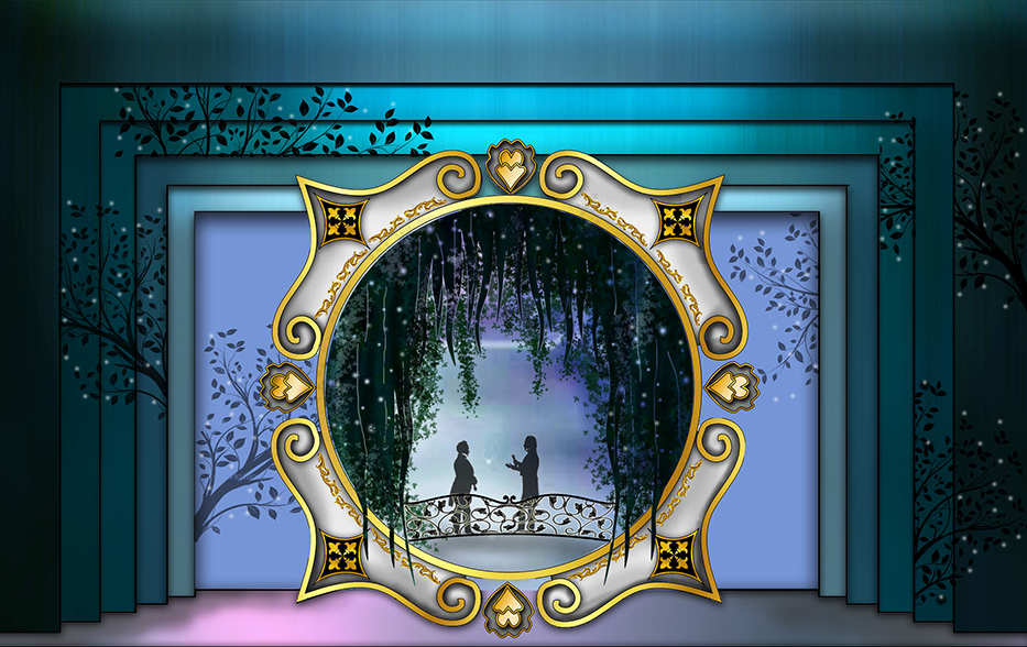"Laurie Mikaelian's set design set for ""Cinderella"