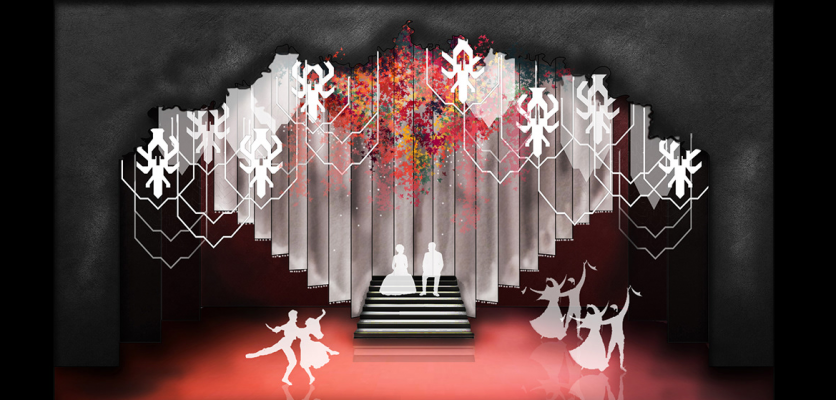 Set design |  'Anush' and 'Cinderella' are on stage for Laurie Mikaelian